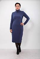 Теплое платье из хлопка PZ 223 c.