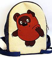 Детский джинсовый рюкзак Винни Пух