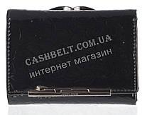 Маленький оригинальный лаковый женский кожаный кошелек высокого качества LE PELICAN art. 8357 A005 черный