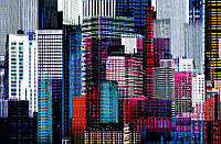 Фотообои Цветные небоскребы, 175х115 см