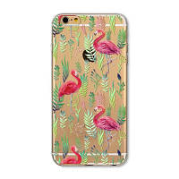 Силиконовый чехол Фламинго на iphone 6 6S