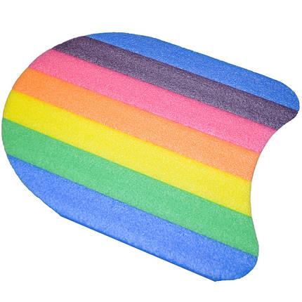 Дошка для плавання різнобарвна рр:35*31*2,8 cm B1005, фото 2