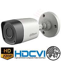 Цилиндрическая HDCVI видеокамера Dahua DH-HAC-HFW1000R-S2 2.8 мм