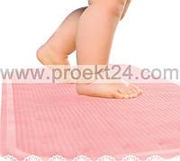 Резиновый антискользящий коврик на дно ванной, розовый