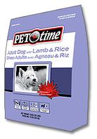 Pet Time Lamb & Rice Adult dog food- сухой корм для взрослых собак баранина с рисом 15кг