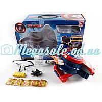 Пистолет Капитан Америка с водяными пулями, 24см: аккумулятор + очки