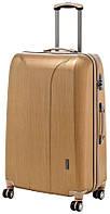 Средний 4-колесный чемодан из пластика 76 л. MARCH New Carat 0082/26, золото