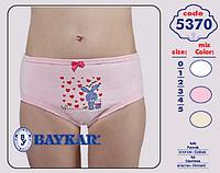 """Трусики детские для девочек """"Счастливый зайка"""" ТМ Baykar, Турция оптом р.3 (122-128см)"""