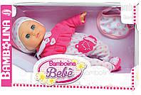 Говорящая кукла Бамболина - Малышка Флора укр. озвучка 34 см. Bambolina BD348UA