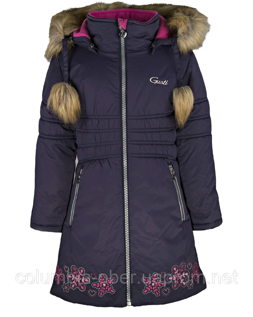 Зимнее пальто для девочки Gusti GWG 6461-ECLIPSE. Размер 116 и 164.