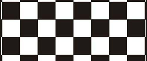 Самоклейка, черный, белый, квадрат,  HONGDA, 45 cm