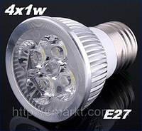 Светодиодная лампочка E27 цоколь 4W лед лампа LED. Купить со скидкой