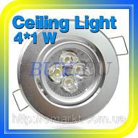 Точечный светильник светодиодный 4 Ватт серого цвета свечение белое