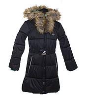 Зимнее пальто для девочки Gusti Boutique GWG 6462-BLACK. Размер  116 - 164.
