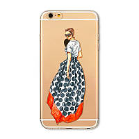 """Силиконовый чехол """"Свой стиль"""" для индивидуальной особына iphone 6 6s для стильных девушек."""