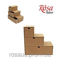 Комод-ступенька,  3 шухляды, МДФ, 30х12х30см, ROSA Talent