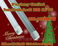 Светодиодная лампочка Т8 цоколь 10W лед лампа LED цвет белый