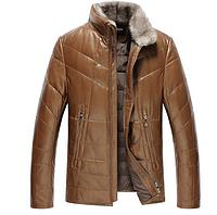 Мужская зимняя дубленка натуральная кожа,мех Модель 937