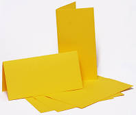 Набор заготовок для открыток 5шт, 10,5х21см, №2, желтый, 220г/м2, ROSA Talent