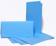 Набор заготовок для открыток 5шт, 10,5х21см, №5, голубой, 220г/м2, ROSA Talent