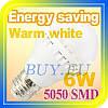 Светодиодная лампочка E27 цоколь 6W лед лампа LED цвет теплый белый