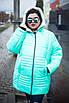 Зимняя куртка больших размеров София мята 48-74, фото 4