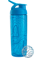 Шейкер Blender Bottle Signature Sleek (760 ml Topo Flow Aqua)