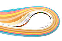 Набор полосок бумаги для квиллинга, №37 Нежность, 8 цв, 0,5 см, 50см, 130 г/м2, ROSA Talent