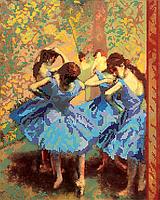 Схема для вышивки бисером Танцовщицы в синем, размер 32х40 см