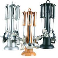 Кухонный набор Maestro Rainbow 7 предметов (серый, коричневый, черный)