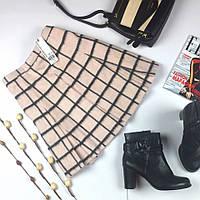 Романтичная юбка миди в пастельных тонах с клетчатым рисунком  KI4501  WAREHOUSE