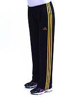 Женские спортивные брюки черного цвета из эластичной ткани с высокой посадкой, размеры 46-64.
