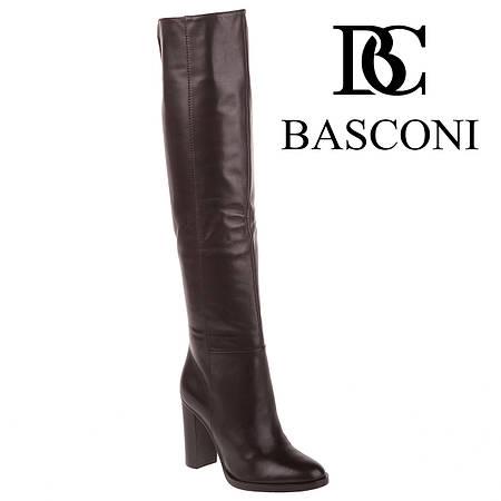 Ботфорты женские Basconi (элегантные, на высоком устойчивом каблуке, стильные, классический дизайн)