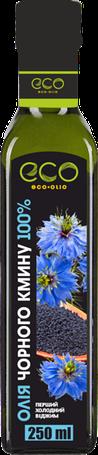 Масло чёрного тмина (из индийских семян калинджи) Eco Olio 100% чистое первого холодного отжима, 250 мл.