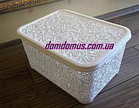 "Корзина для хранения ""Ажур""  28 л  Elif Plastik, Турция, белая"