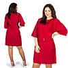 Красное платье 15582, большого размера