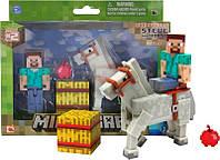 Фигурка Minecraft «Steve с конем и аксессуарами», Jazwares