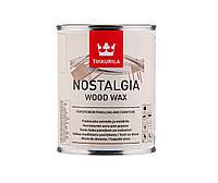 """Масло-воск интерьерное TIKKURILA NOSTALGIA WOOD WAX для стен и мебели """"EP"""" бесцветный, 0,9л"""