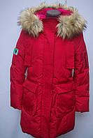 Куртка парка женская зимняя цвет красный
