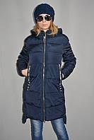 Куртка зимняя женская синяя биопух р. S-XL Venissa Y-003