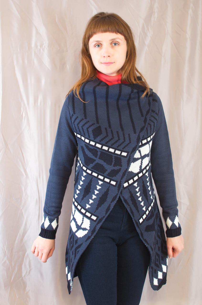 3c5287f68bc Стильный осенний теплый женский вязанный кардиган