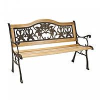Скамейка деревянная ажурная   VERONA U 130 см
