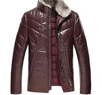 Мужская зимняя дубленка, натуральная кожа Модель 939