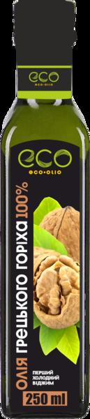Масло грецкого ореха Eco Olio 100% чистое первого холодного отжима, 250 мл.