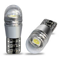 Светодиодная автолампа T10 (W5W) White 25Lumen Epistar 5050 Chip CANBUS with Cover
