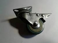 Колесо мебельное опорное, на платформе с тормозом ( Ф-50 мм) 50*17
