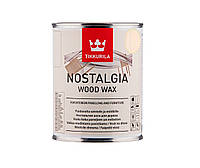 Масло-воск интерьерное TIKKURILA NOSTALGIA WOOD WAX для стен и мебели цвета кокос, 1л