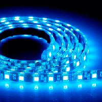 Светодиодная лента 24В 3528 (120LED/м) IP65 синий