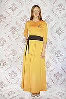 Платье женское нарядное в пол горчица р.44-46 Yam128