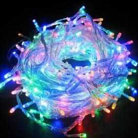 Гирлянда светодиодная 300 led мульти (белый провод)